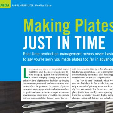 First page of an article from Graphic Arts Monthly magazine
