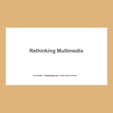 TItle slide of PowerPoint show on Rethinking Multimedia