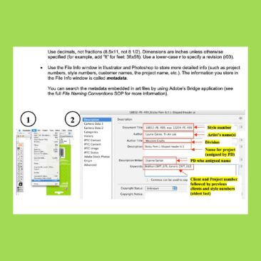 Instructions from a Standard Operating Procedures document